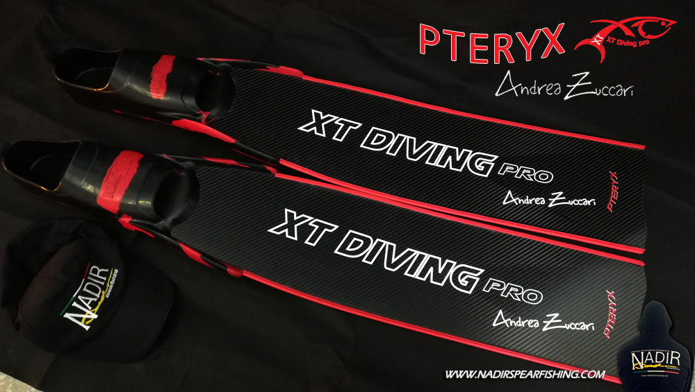 PTERYX XT DIVING PRO ANDREA ZUCCARI PINNE IN CARBONIO